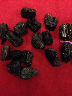 Black Tourmaline natural raw stones aka schorl by GladStonesNSage