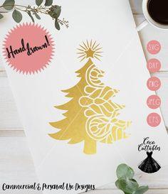 Christmas Tree Mandala SVG Cut File Christmas Tree Svg Mandala Svg Christmas Decal Svg Cut file for Cricut Silhouette Png Eps Svg Jpeg Dxf Christmas Decals, Christmas Clipart, Christmas Decorations, Christmas Tree Zentangle, Silhouette Png, Tree Svg, Silhouette Projects, Craft Items, Svg Cuts