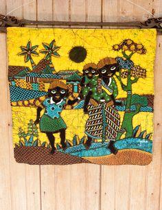 Hand Drawn Javanese Batik  Colorful and distinctive hand drawn Javanese batik, signed by the artist.