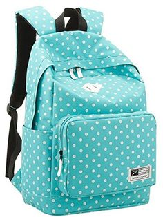 TOPWEL Zipper Unisex Polka Dot Backpack Curve Backpack Laptop Backpack School Bag Travel Daypack Handbag -- Visit the image link more details.