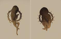 Patrycja Podkościelny / Slavic Gods & Demons – Lithography on Behance