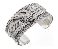 Sterling Silver Eagle  hand Cuff - macys jewelry rings