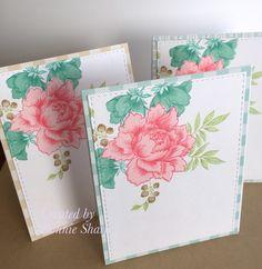 Altenew note cards, Altenew Peony Bouquet