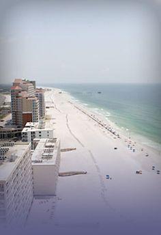 32 miles of sugar white sand in Gulf Shores & Orange Beach, AL.  Shot of East Beach, Gulf shores.