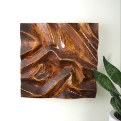 Beginner Wood Carving Wall Art Learn how to make this carved wood wall art! It uses scrap wood, your favorite stain, and an angle grinder (it looks like a much more difficult project but is super easy Carved Wood Wall Art, Wood Carving Art, Wooden Wall Art, Diy Wall Art, Wall Wood, Art Carved, Scrap Wood Art, Dremel Carving, Cool Wall Art