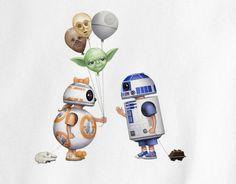 Star Wars BB8 Birthday balloons to R2D2 Tee T-Shirt