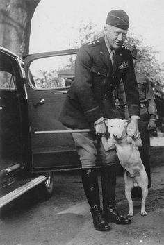 General Patton with his beloved dog Willie