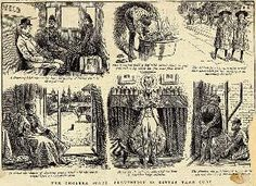 Images of, the plight of cholera; an infectious disease caused by drinking the tainted water supply. One of the major illnesses during the American Gilded Age era - late 19th century. ~ {cwlyons}