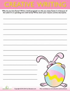 Easter Creative Writing #6 Worksheet