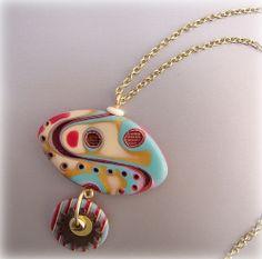 Mokume Gane Pendant Necklace