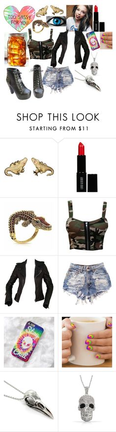 """#grav3yardgirl"" by leopardwolf ❤ liked on Polyvore featuring Lord & Berry, Bling Jewelry, WearAll, Balenciaga and grav3yardgirl"