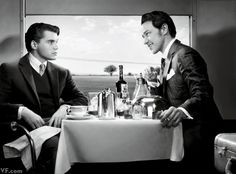 Strangers on a Train, 1951 Emile Hirsch and James McAvoy, Photographed by Art Streiber