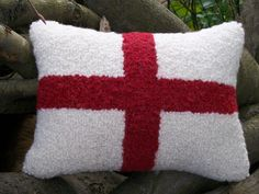 St. George Cross Decorative Cushion / Pillow  Love by WoollyLakes, £35.00