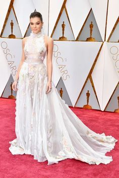 The 2017 Oscars. If you thought Hailee Steinfeld's ethereal Ralph & Russo dress was love at first sight (it totally was), may we suggest you hold your applause until you see the back? Once Steinfeld turned around, we can only imagine the photographers went crazy snapping shots of the reef-like ruffles that trailed down her spine. Hey, it is haute couture after all.refinery29