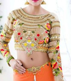 Here are the best collection of party wear blouse designs to enhance your style and attire in saree. Full Sleeves Blouse Designs, Fashion Models, Party Kleidung, Nails Polish, Online Shopping For Women, Womens Clothing Stores, Sweater Outfits, Party Wear, Designer