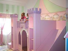 "NEW CUSTOM PRINCESS SOPHIA CASTLE LOFT BED ""FREE TOWER ACCENT LIGHTS    Home & Garden, Kids & Teens at Home, Furniture   eBay!"
