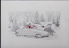 Saab - Santa's car of choice
