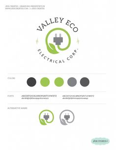 Valley Eco Electric Corp. |  Branding  | Logo  | www.jesscreates.com