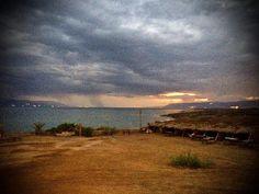 #deadsea #sunset  #cold  #rain  #sea #landscapephotography #nature #naturephotography #shotoniphone #procamapp