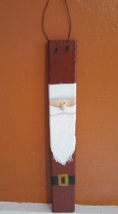 Santa Shutter Slat by 4craftyhands on Etsy, $8.50