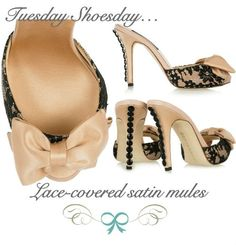 pretty little lace mules with a nailhead heel = so polished and pretty! http://mercinewyork.blogspot.com/2012/05/tuesday-shoesday-lace-covered-mules-by.html