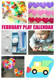 February Activities for Kids - Free Monthly Play Calendar - LalyMom