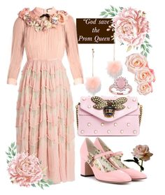 """PINK (Set#13)"" by alienprincess13 on Polyvore featuring Abigail Ahern, Gucci and New York & Company"