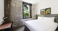 1888 Hotel Sydney - Pyrmont boutique accommodation ~ QUEEN BEDROOM  - 18m2