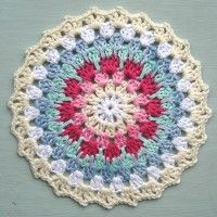 Crochet Mandala Wheel made by Nicole, USA, for yarndale.co.uk Potholders, Granny Squares, Crochet Doilies, Crochet Projects, Runners, Madness, Coasters, Wheels, Blanket