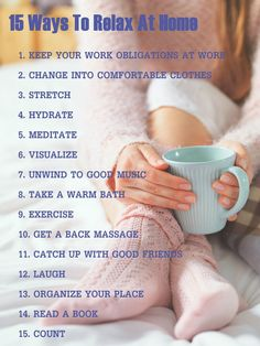 How to relax at home after work? Read on and find out how you can relax at home after work effectively. Relaxation exercises and videos included.
