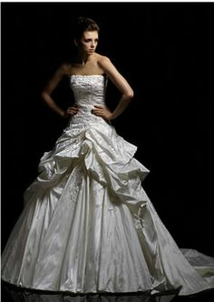 Wedding Dresses, Bridesmaid Dresses, Prom Dresses and Bridal Dresses Blue by Enzoani Bridal Gown Belgrade [Belgrade] - A-line skirt with beaded lace appliques and side bustles. 2015 Wedding Dresses, Wedding Bridesmaid Dresses, Wedding Dress Styles, Designer Wedding Dresses, Bridal Dresses, Wedding Gowns, Gorgeous Wedding Dress, Glamorous Wedding, Cathedral Wedding Dress