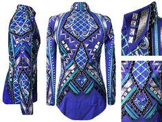 Cobalt Blue, Teal, Black & Gray Jacket