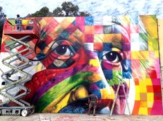 Eduardo Kobra - Einstein Mural