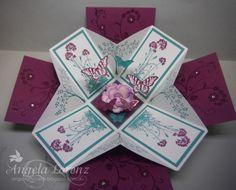 Angela Lorenz. Stampin Up box card made for a friend. angscraftcards.blogspot.com.au Exploding Box Card