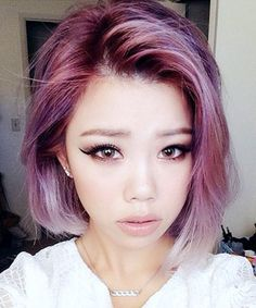 Surprisingly pretty and versatile, this purple hue shouldn't be ruled out as a viable hair color option