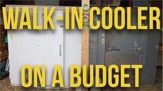 Walk-in Cooler (Cool-Bot) Homemade Ac, Walk In Freezer, Fridge Cooler, Diy Cooler, Small Greenhouse, Greenhouse Ideas, Living Etc, Urban Farmer, Root Cellar