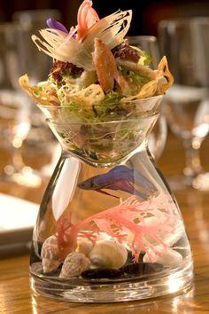 Shibuya Restaurant, Las Vegas. Complete with fish bowl