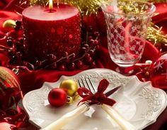 Christmas table decoration photo