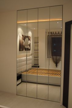 lustro w szafie lustro w ramie - Szukaj w Google Entrance Doors, Divider, New Homes, Room Decor, Interior, House, Furniture, Closets, Mirrors
