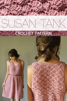 The Susan Tank - A beautiful, v-neck garment that flatters EVERY body type. - The Susan Tank – A beautiful, v-neck garment that flatters EVERY body type. Débardeurs Au Crochet, Pull Crochet, Crochet Patron, Mode Crochet, Crochet Woman, Crochet Stitches, Drops Design, Crochet Clothes, Diy Clothes