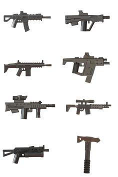 Custom LEGO Minifigure compatible Modern Warfare Toy Weapons :