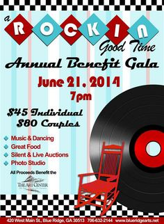 Blue Ridge Rocks! Come help support the arts and the Blue Ridge Mountains Arts Association with our 16th Annual Benefit Gala event. June 21  - 7pm  http://www.blueridgearts.net/Pages/TheGreatArtsy.aspx