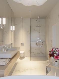 Dom 416m2 w Dosinie   Proj: Naboo   IH - Internity Home Bathroom Interior, Modern Bathroom, Master Bathroom, Luxurious Bedrooms, White Marble, Apartment Therapy, Modern Decor, Bathrooms, New Homes