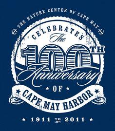 100 Years of Cape May Harbor (USA)   Anniversary Logos   Pinterest