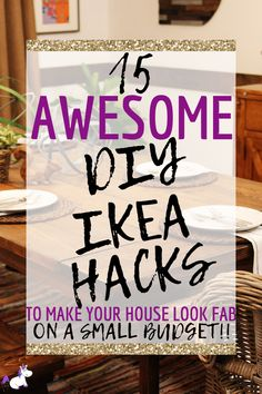 DIY hacks from IKEA are the perfect solution if you want an affordable way to tranform your home! These top 15 IKEA hacks will save you time, stress & money Diy Hanging Shelves, Diy Wall Shelves, Floating Shelves Diy, Mason Jar Diy, Mason Jar Crafts, Diy Home Decor Projects, Diy Projects To Try, Diy Hacks, Do It Yourself Ikea