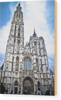 Antwerp Cathedral, Belgium Wood Print by David Perea. All wood prints are professionally printed, packaged, and shipped within 3 - 4 business days and delivered ready-to-hang on your wall. Amsterdam Netherlands, Mosques, Antwerp, Wood Print, Belgium, Worship, Fine Art America, To Go, Adventure