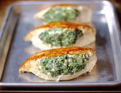 Spinach Stuffed Chicken Made dec 28. Like how quick and simple this is. Tasted really good.