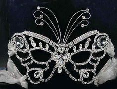 rhinestone butterfly mask, could so imagine America singer wearing this for  her Halloween costume.