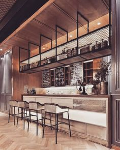 What do you think about the design of this coffee? Design Industrial, Industrial Cafe, Bar Interior Design, Restaurant Interior Design, Industrial Restaurant Design, Cafe Restaurant, Bar Counter Design, Café Bar, Coffee Shop Design