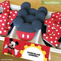 Disney Mickey Mouse Clubhouse Editable Birthday Tent Cards Mickey Party, Mickey Mouse Parties, Disney Mickey Mouse, Mickey Mouse Cookies, 3rd Birthday, 1st Birthdays, Party Themes, Cake Pops, Biscuit